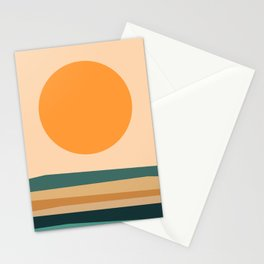 Abstract Landscape 10B Stationery Cards