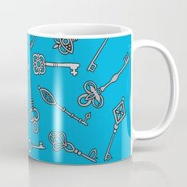 Skeleton Keys Blue Coffee Mug