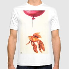 Dream About Flying Mens Fitted Tee White MEDIUM