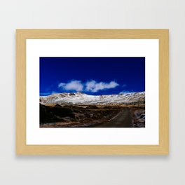 Kosciuszko mountains Framed Art Print