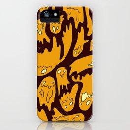 Orange Ghosties iPhone Case