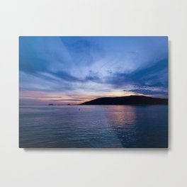 Sunset Over the Ocean in Avila Beach Metal Print