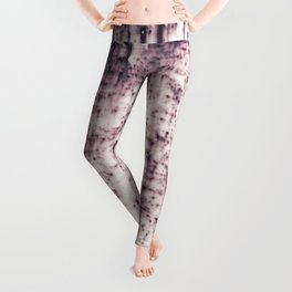 Metal with abstract textures and pink tones Leggings