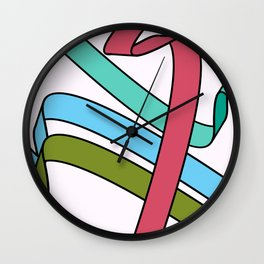 Four Ribbons Wall Clock