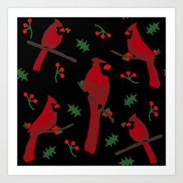 Cardinal Pattern Art Print