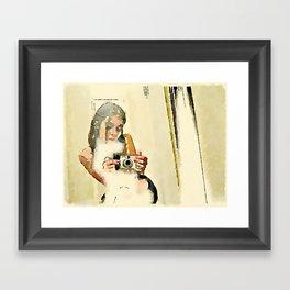 Self Portrait with Digital Camera Framed Art Print