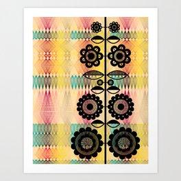 Geometric Floral Art Print