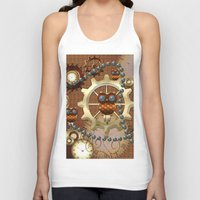 steampunk Tank Tops featuring Steampunk  by nicky2342