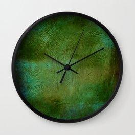 Shades of Deep Green Texture Wall Clock