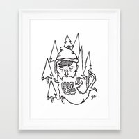 bon iver Framed Art Prints featuring Bon Iver by greta skagerlind