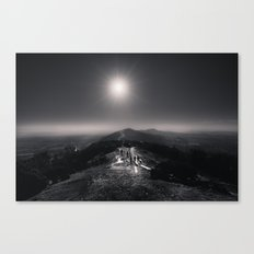 Standing on a Mountain - Black and White Collection Canvas Print