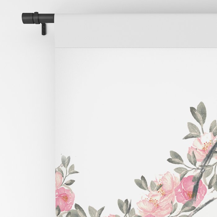 Deer and Flowers Blackout Curtain
