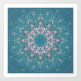 Navajo Turquoise Gemstone Mandala No. 40 Art Print