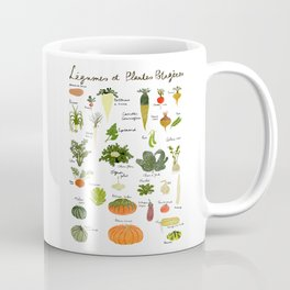 Kitchen art french vegan vegetables illustration food art print Coffee Mug