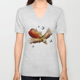 Flying Low Unisex V-Neck