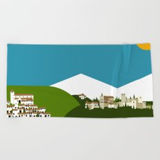 Granada - El Albaycín y La Alhambra Beach Towel
