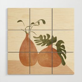 Two Living Vases Wood Wall Art