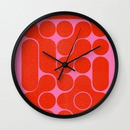Abstract mid-century shapes no 6 Wall Clock