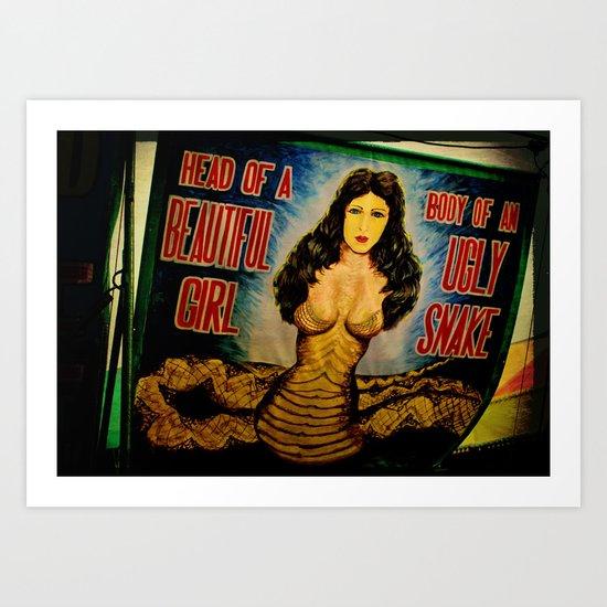 Snake Girl Art Print