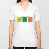 pantone V-neck T-shirts featuring Peter Pantone by guissëpi