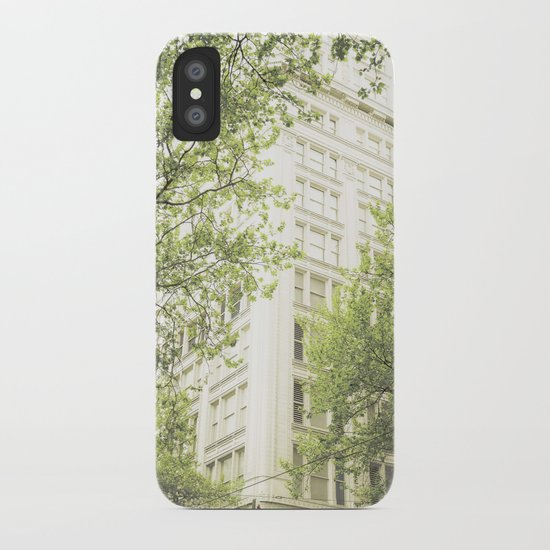 green in the grey iPhone Case