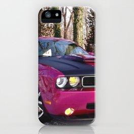 Fuchsia Panther Pink Limited Edition Hurst Challenger RT iPhone Case