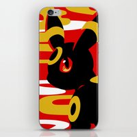 umbreon iPhone & iPod Skins featuring #197 - Umbreon by Solis