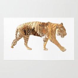 Tiger tripple exposure Rug