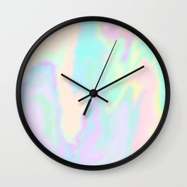 Iridescent Paint Wall Clock