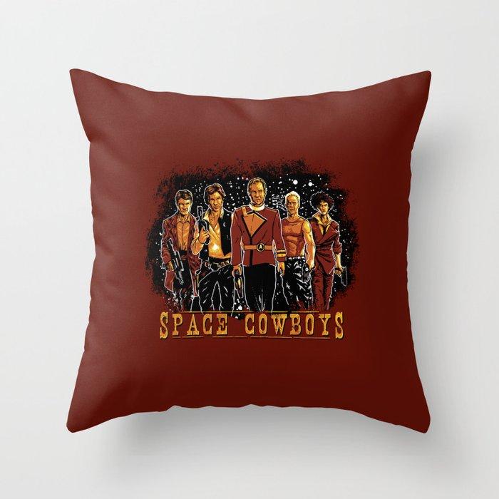 Space Cowboys Throw Pillow