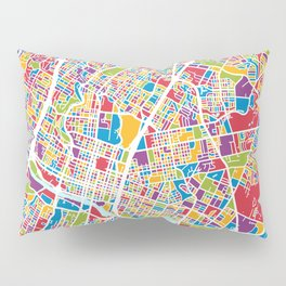 Austin Texas City Map Pillow Sham