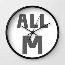 ALL M Wall Clock