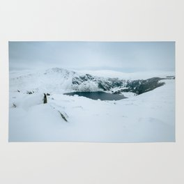 Lough Tay in winter time (RR 195) Rug
