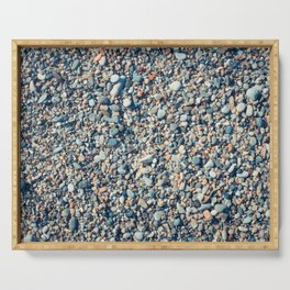 Beach stones surface Serving Tray