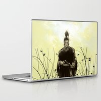 samurai Laptop & iPad Skins featuring Samurai by Tony Vazquez