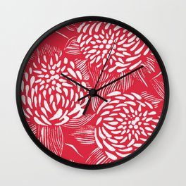 Waratahs Red Wall Clock