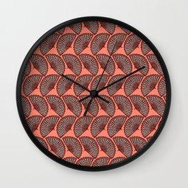 Fan on coral Wall Clock