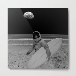 Moon surfer Metal Print