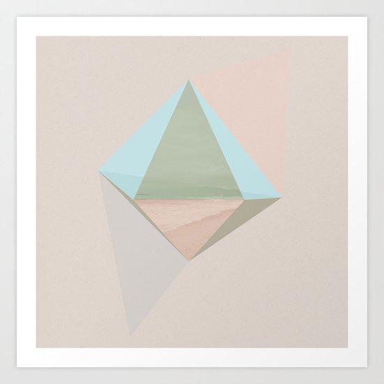 pentagonal dipyramid Art Print