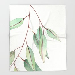 Eucalyptus Leaves One Throw Blanket