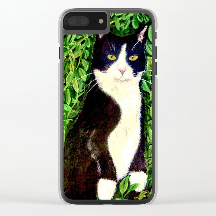 Kitty in the Woods Clear iPhone Case