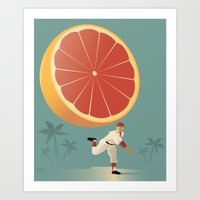 league Art Prints featuring Grapefruit League by John W. Tomac