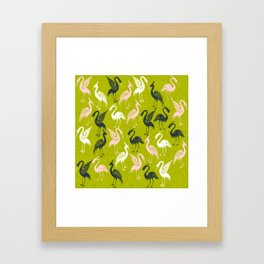 Cute Crane Pattern Framed Art Print