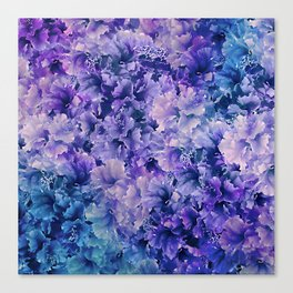 Hibiscus Flower Pattern Canvas Print