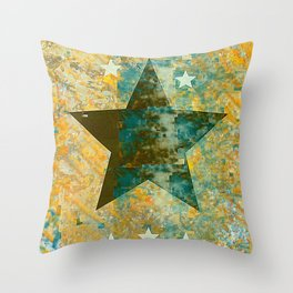 Rustic Star #2 Throw Pillow