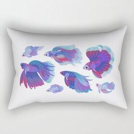 Blue Betta Rectangular Pillow