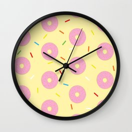 Donut Delux Sprinkles Pattern Wall Clock