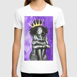 Naturally Queen IX PURPLE  T-shirt