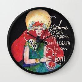 Goddess Persephone Wall Clock