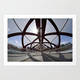 Calgary Peace Bridge; great Architecture Art Print
